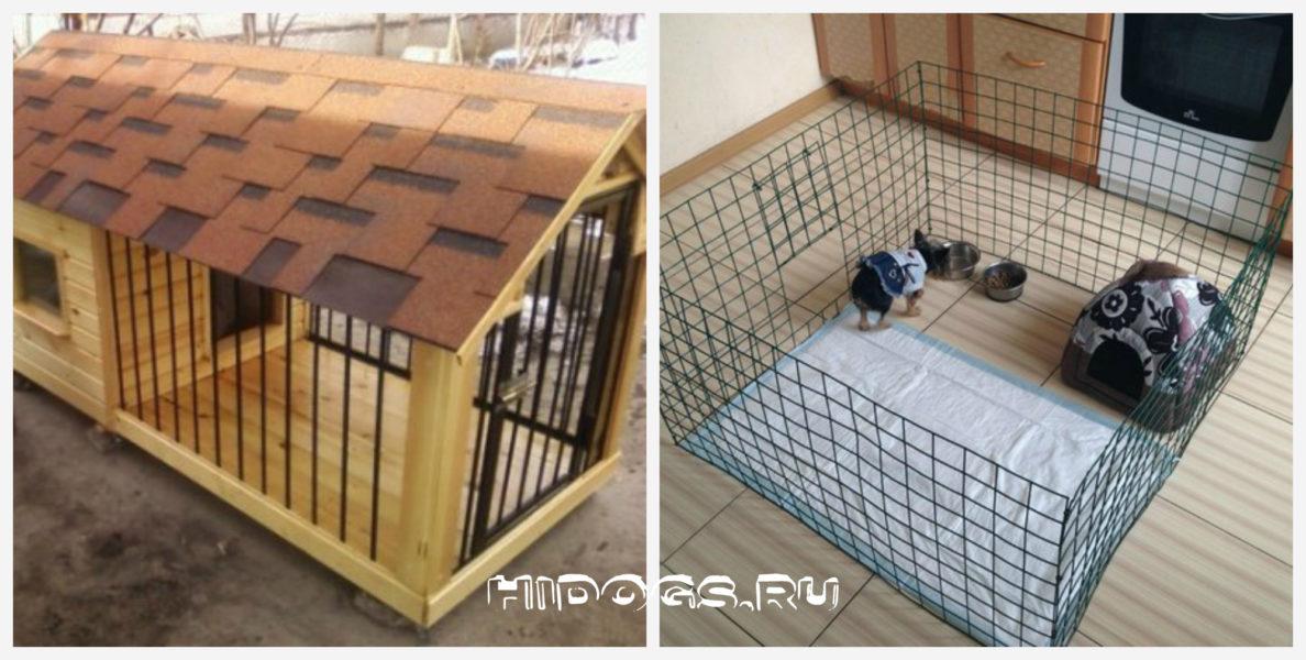 вольер в квартире для собаки